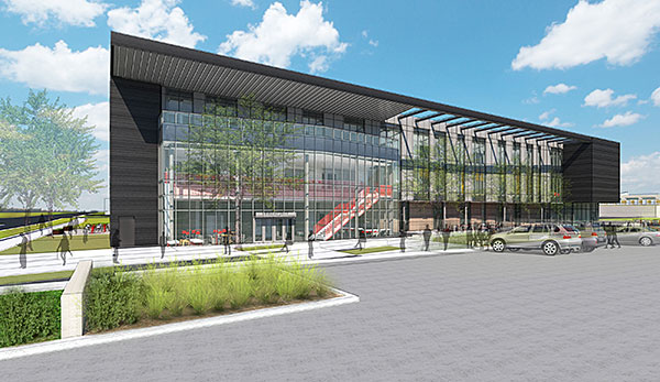 Rendering of future STEM building