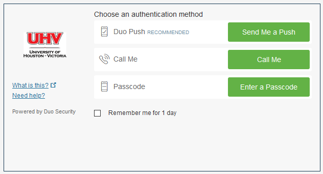 choose an authentication method