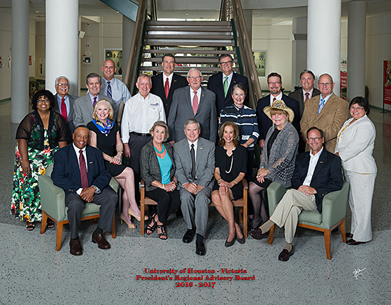 President's Regional Advisory Board: Keith Williams, Amy Schwartz, Sally Aman, John Shutt, Margery Engel Loeb, Debra Baros, Roger Welder, Debra Williams, Gene Moreno,  Zachary Hodges, Terry Robinson, Vic Morgan, Kay Kerr Walker, Mike Rivet, Lance LaCour, Jack Swanson, Bea Espinosa, David Hinds, Bret Baldwin and Lane Keller